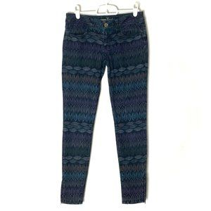 AEO Jegging Low-Rise Zipper Ankle Printed 28x26.5